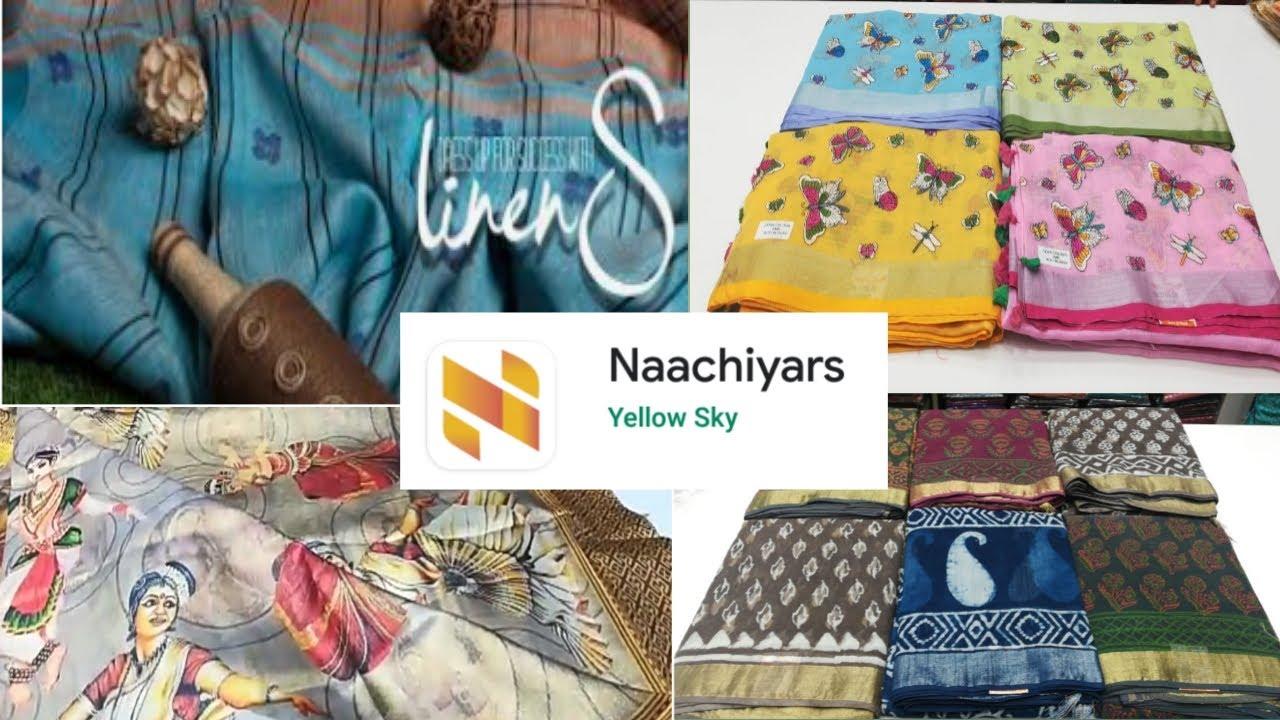 Naachiyars Linen sarees & aara silk sarees/ மதுரை நாச்சியார் சேலைகள்