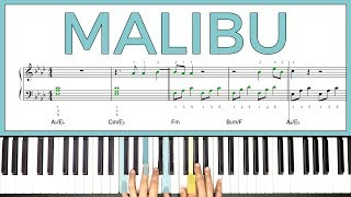 How to play 'MALIBU' by Miley Cyrus on the piano -- Playground Sessions