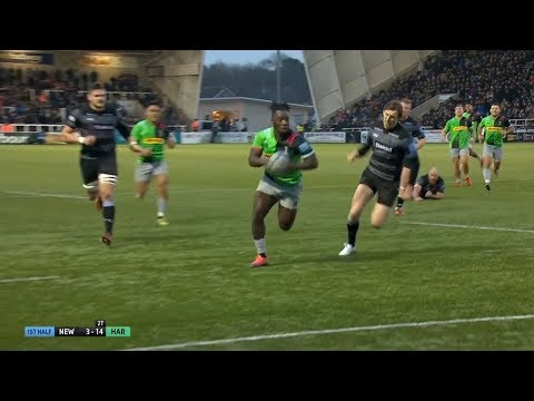 Gabriel Ibitoye scores sensational try against Newcastle Falcons