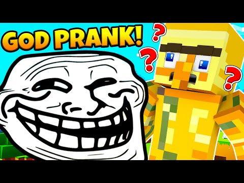 GOD MODE PRANK! | INVISIBLE COMMANDS LUCKY BLOCK MINECRAFT MODDED MINIGAME | JeromeASF