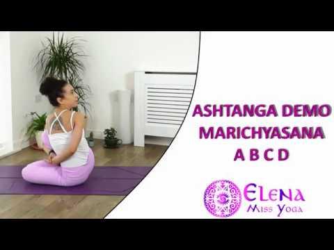 ASHTANGA DEMO MARICHYASANA A B C D