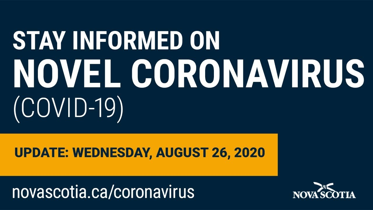 Update COVID-19 for Nova Scotians: Wednesday August 26