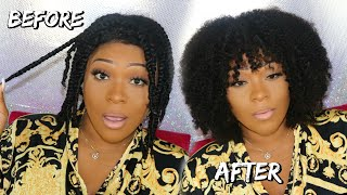 This Looks So Natural | Realistic 3C - 4A Wig For Natural Hair | Flat Twist Out On Curly Hair
