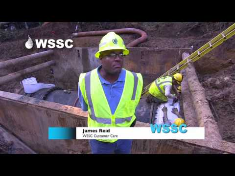 Emergency Repairs to WSSC's 54-Inch Water Main in Forestville - July 2013