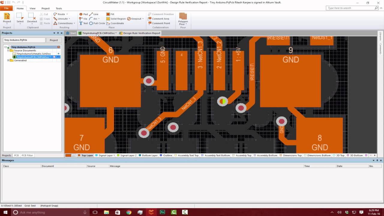 Design Rule Check After Routing Pcb Altium Circuitmaker Tutorials Circuit Maker Schematic To Youtube