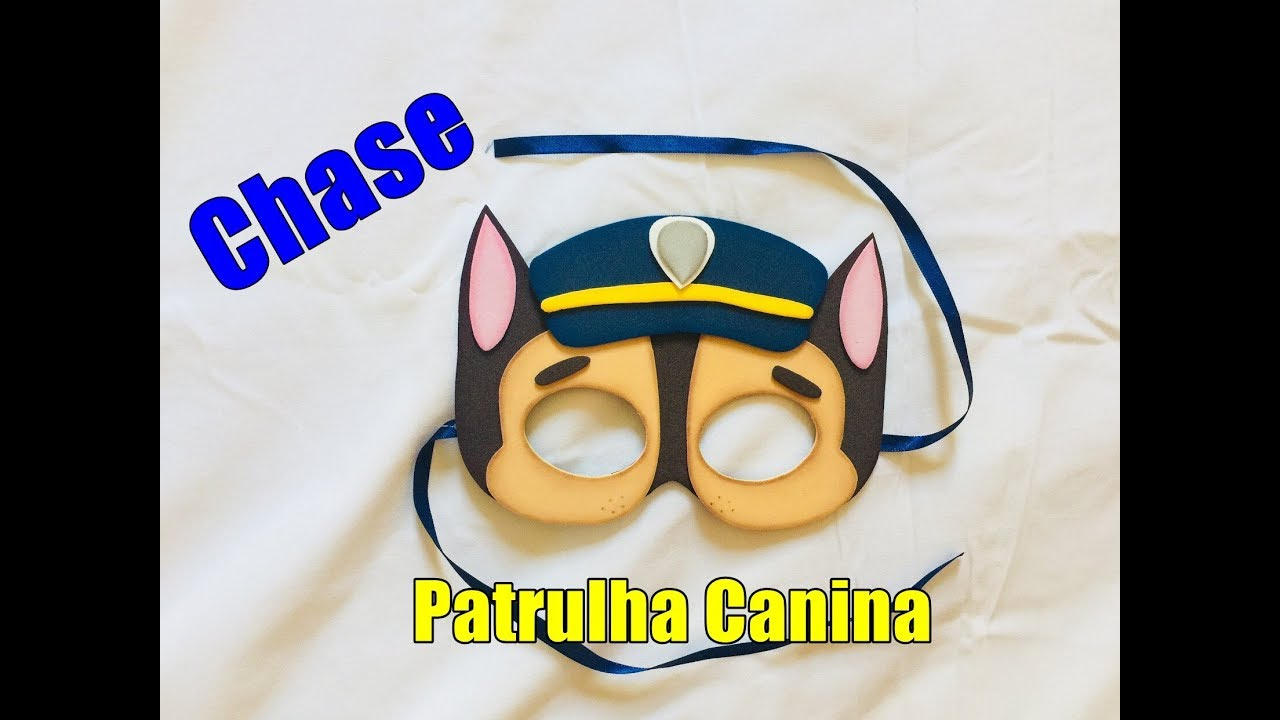 56566805567295 Passo a passo Mascara Chase- Patrulha canina - Carnaval - Art's da Indy