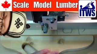 Scale Model Framing Lumber: Tiny Woodshop Pt 2