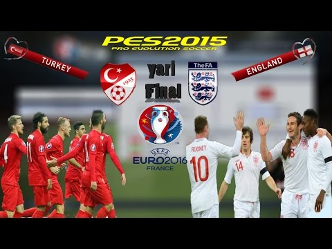 Turkey - England • UEFA EURO 2016 • Pes2015 Gameplay•Türkçe Spiker № 5