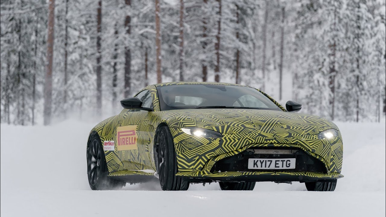 aston martin vantage 2018 side view. New 2018 Aston Martin Vantage Reviewed - On Ice Side View E