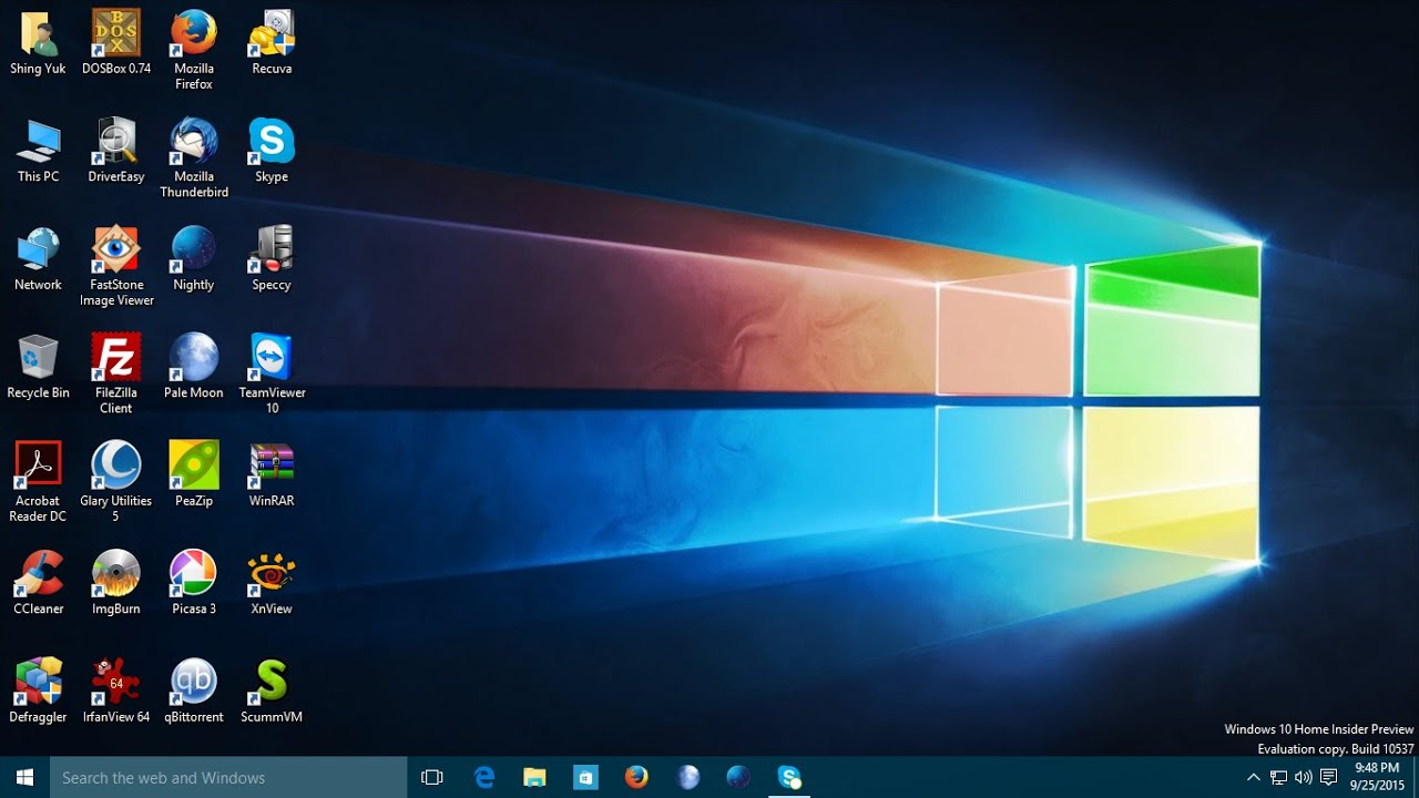 Windows 10 Home Insider Preview Build 10537 In Vmware