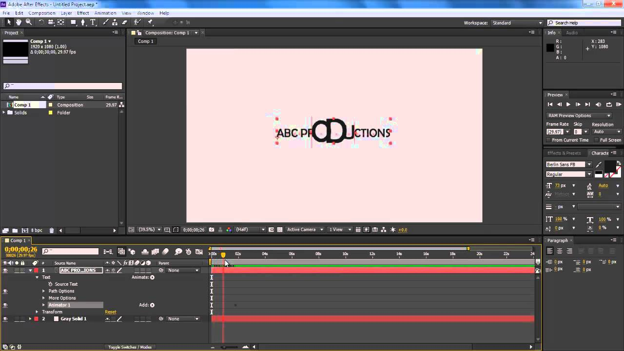 How To Use The Presets In Adobe After Effects Cs6 Youtube