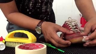cara mudah ngelem sepatu / reglue shoes