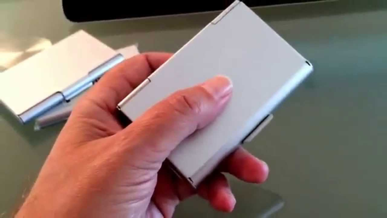 Muji card holder specs. - YouTube