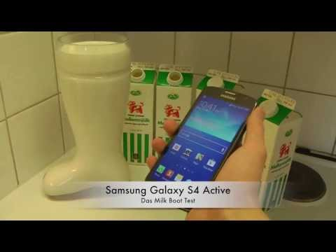 Samsung Galaxy S4 Active - Das Milk Boot Test