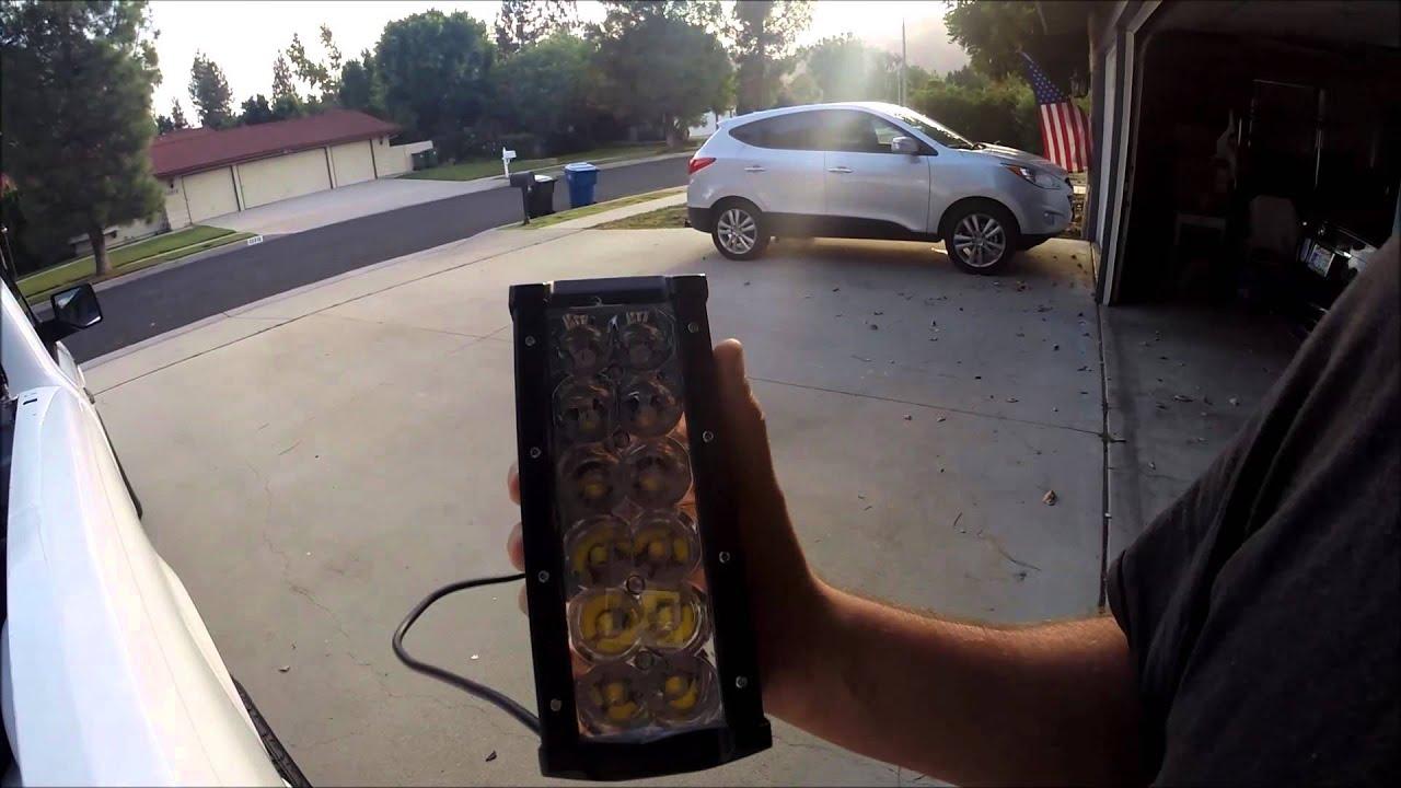 Auxbeam 7 led light bar youtube aloadofball Choice Image