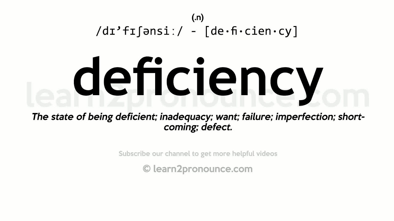 How to pronounce Deficiency  English pronunciation