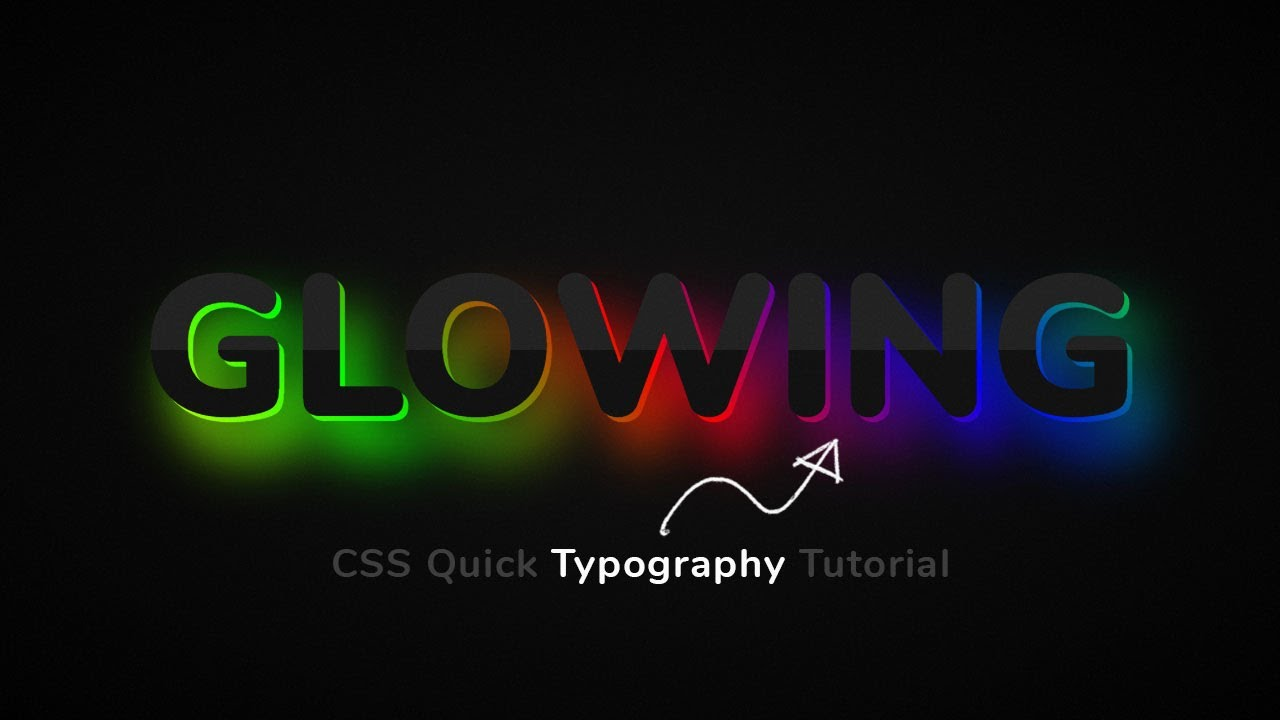 CSS Glowing Text Typography Effects   Quick CSS Tips & Tricks
