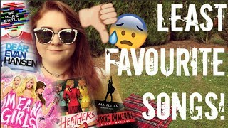 THE WORST SONGS IN HAMILTON, HEATHERS, MEANS GIRLS, DEAR EVAN HANSEN AND MORE!