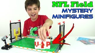 NFL Football Field & Mystery Superstar Minifigures | LEGO Compatible Set Review