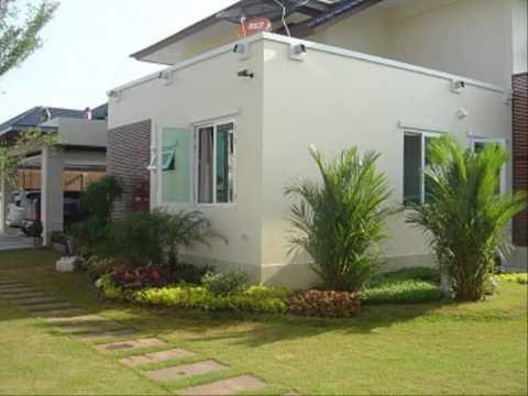 การจัดสวนหินหน้าบ้าน รูปจัดสวนข้างบ้าน