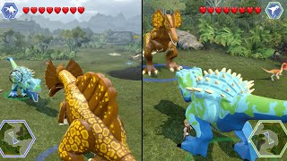 Lego Jurassic World - HYBRIDS BATTLE! ( Free Roam GamePlay ) thumbnail