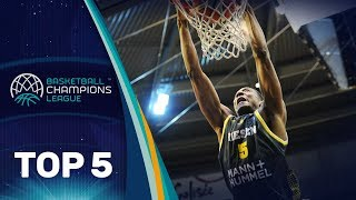 Top 5 plays: mhp riesen ludwigsburg - basketball champions league 2017-18