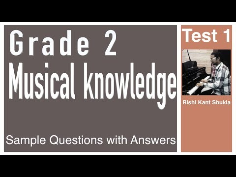 Grade 2 Musical Knowledge Questions with Answers - Test 1
