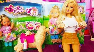 Rodzinka Barbie - Barbie zwierzęta Barbie małe pieski szczeniaczki - bajki dla dzieci