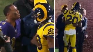 Jalen Ramsey Keeps Trying TO FIGHT Marcus Peters After Ravens DESTROY Rams