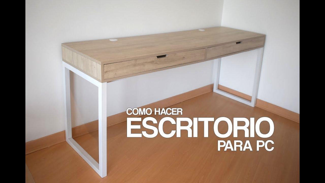 ESCRITORIO PARA PC GAMER  PROYECTO MUEBLE ft PEDRITO VM  YouTube