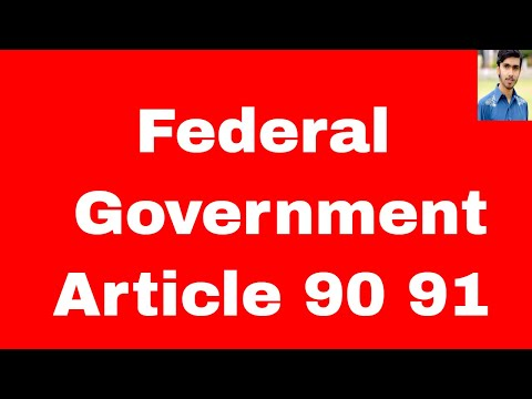 federal government of pakistan article 90 91 of constitution of pakistan 1973 in urdu and hindi