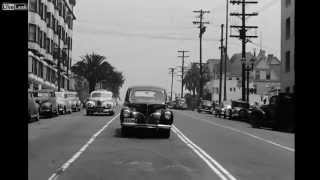 Drive through Los Angeles in late 40's (HD)