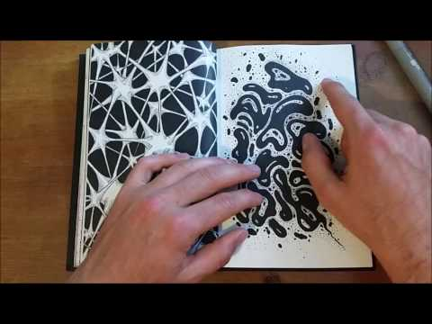 Looking over my FINISHED doodle book
