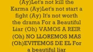 shakira & beyonce-Beautiful Liar (Lyrics)