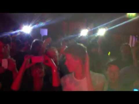 Kevin Saunderson gets flashed @ Distrikt Bar, Leeds 17/05/13