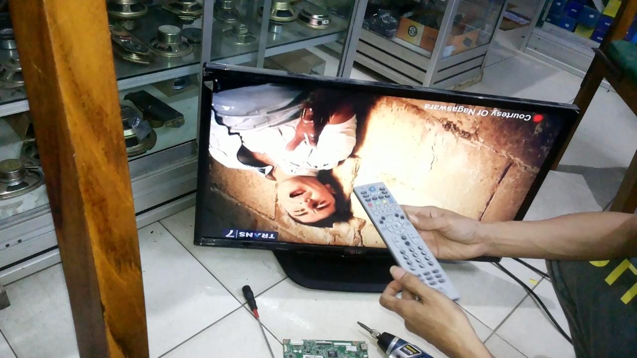 cara setting tv LG gambar terbalik
