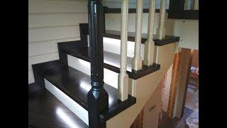 Изготовление лестницы с подсветкой ступеней / ступенька 48