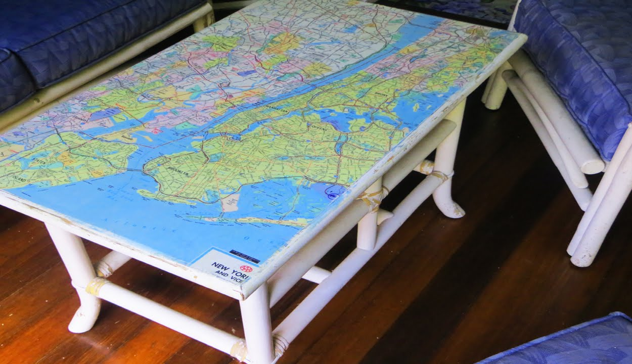 diy decoupage furniture. How To Decoupage Furniture With A Map Diy O