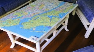How to Decoupage Furniture with a Map
