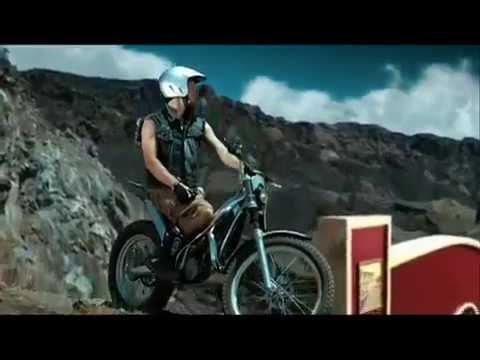 Indonesia trial motorbike tv advertising