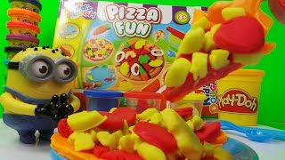 Play-doh And Kids Dough Pizza Fun Toy Box Unboxing A Making Play Pizza