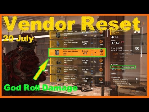 Repeat The Division 2 | Weekly Vendor Reset 20 July | God