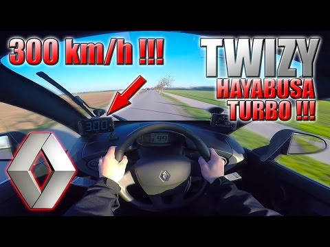 1. April! 2017 Renault Twizy (0-300km/h) Hayabusa Turbo engine, POV: Acceleration, Top Speed TEST✔