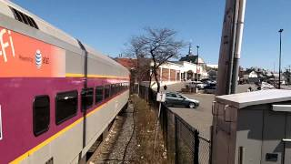 MBTA Commuter Rail Train Departing Gloucester