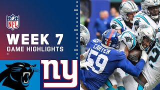 Panthers vs. Giants Week 7 Highlights | NFL 2021