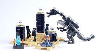 лего майнкрафт.Дракон Эндер!Обучающие мультики и развивающие видео сборки из конструктора Лего