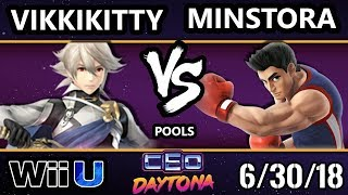 CEO 2018 Smash 4 - Vikkikitty (Corrin) Vs. GOTE   Minstora (Little Mac) Wii U - Pools