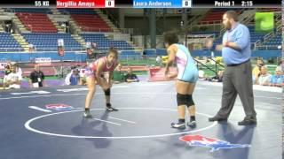 55 KG Vergillia Amaya (MWC) vs Laura Anderson (Brea WC)