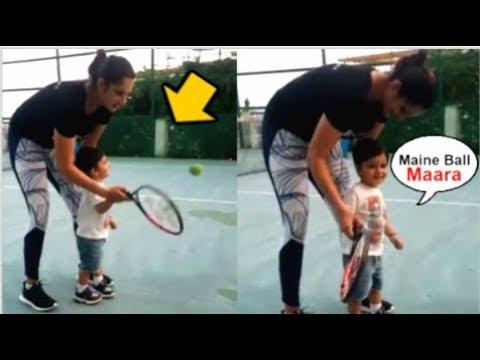 Sania Mirza TEACHING Son Izhaan Mirza To PLAY Tennis During Quarantine