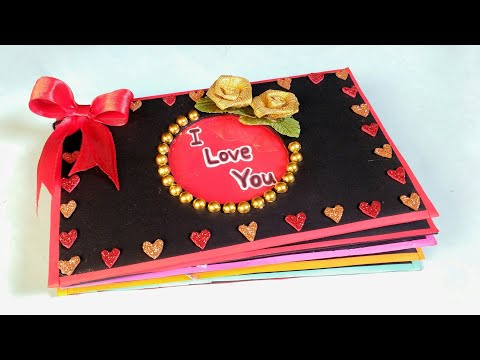 Valentine's Day Scrapbook | Tutorial | DIY | How To Make | Creative Craft By Punekar Sneha
